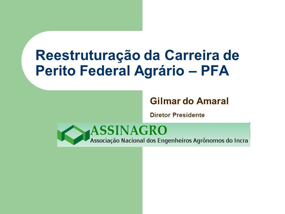 Reestruturação da Carreira de Perito Federal Agrário – PFA