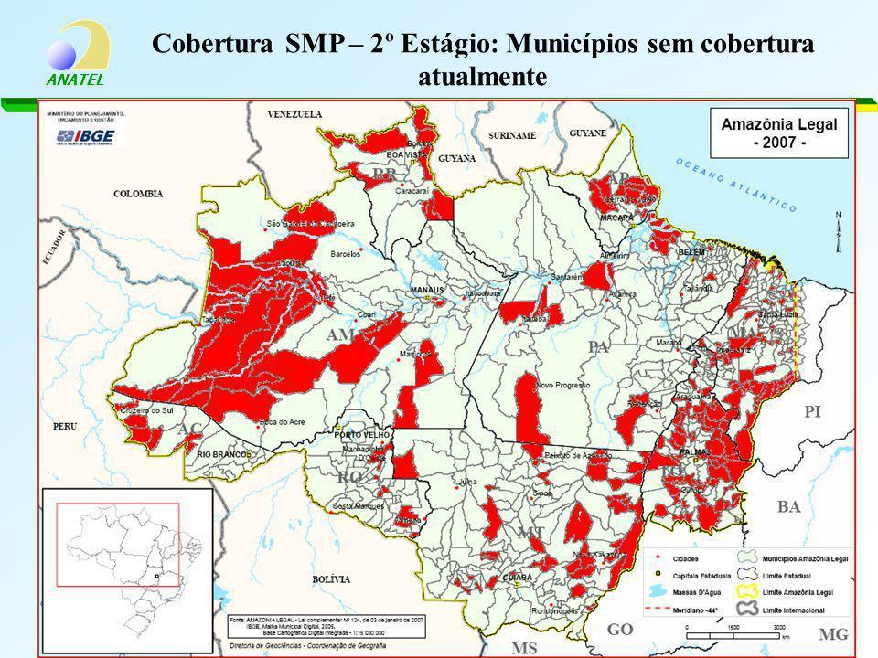 Cobertura SMP – 2º Estágio: Municípios sem cobertura atualmente