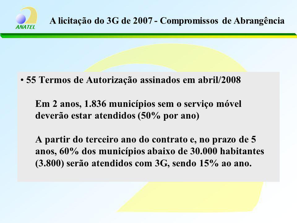 A licitação do 3G de 2007 - Compromissos de Abrangência