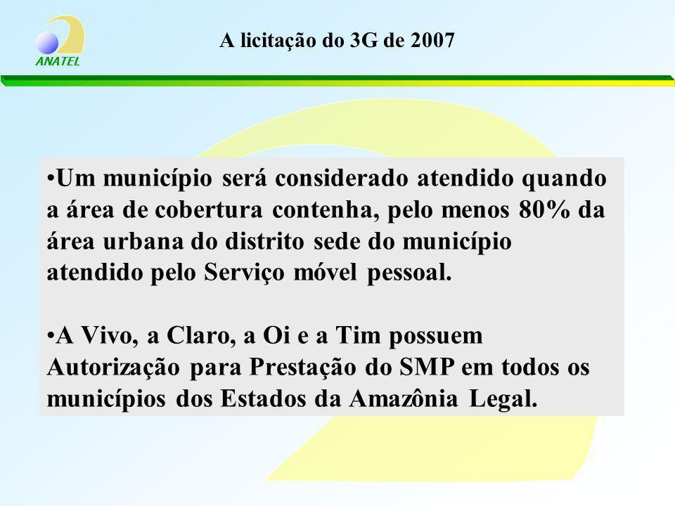 A licitação do 3G de 2007