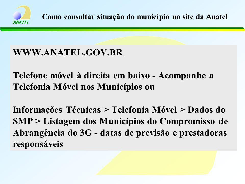 Como consultar situação do município no site da Anatel