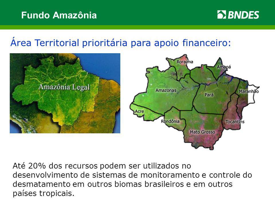 Fundo Amazônia Área Territorial prioritária para apoio financeiro: