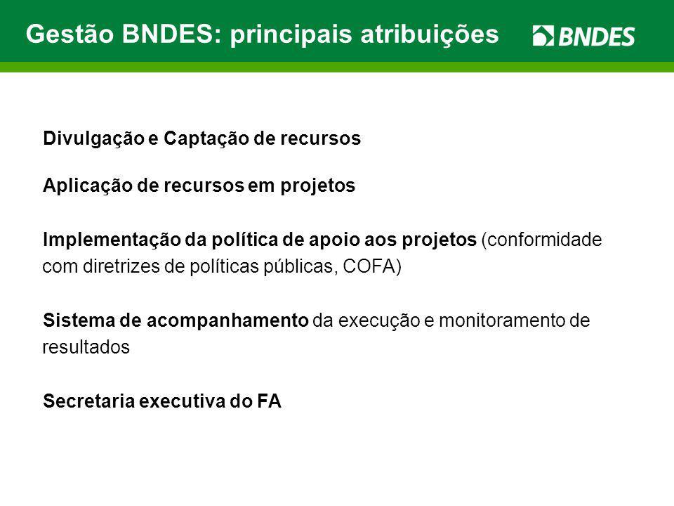 Gestão BNDES: principais atribuições