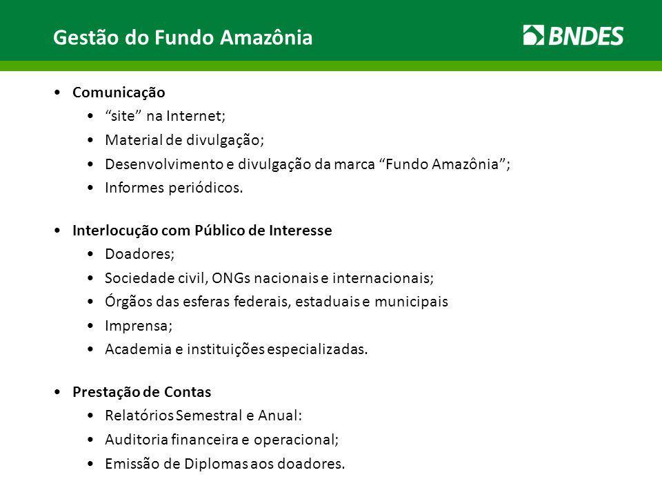 Gestão do Fundo Amazônia