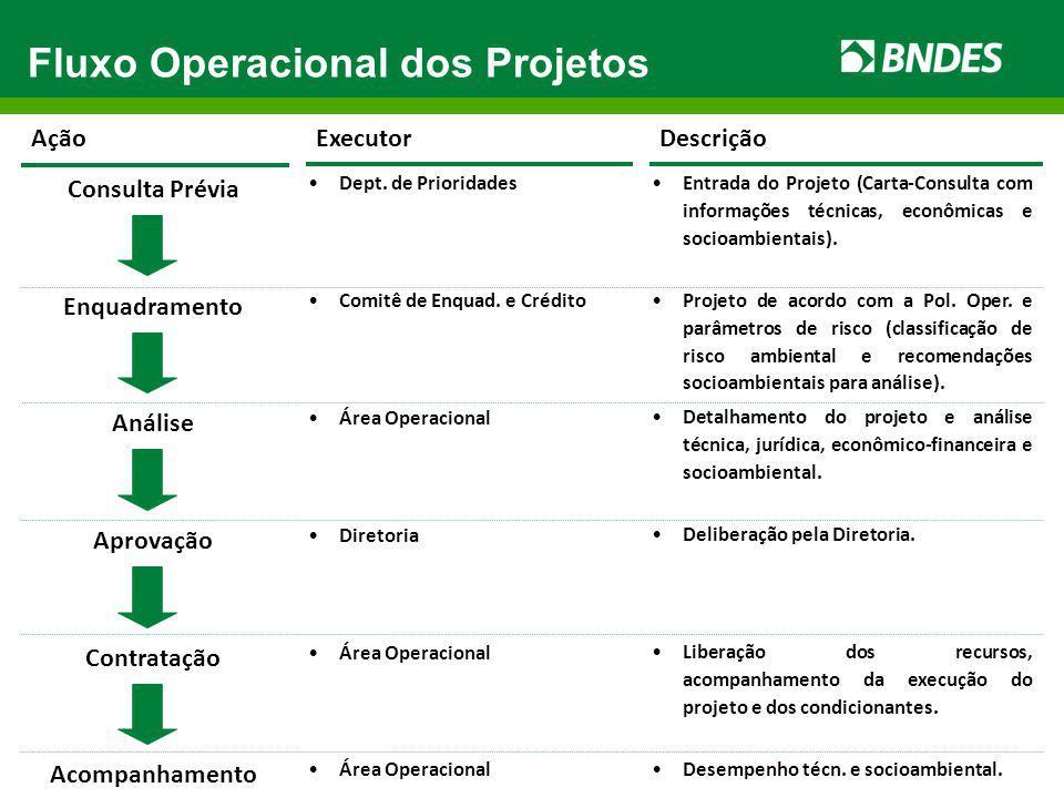 Fluxo Operacional dos Projetos