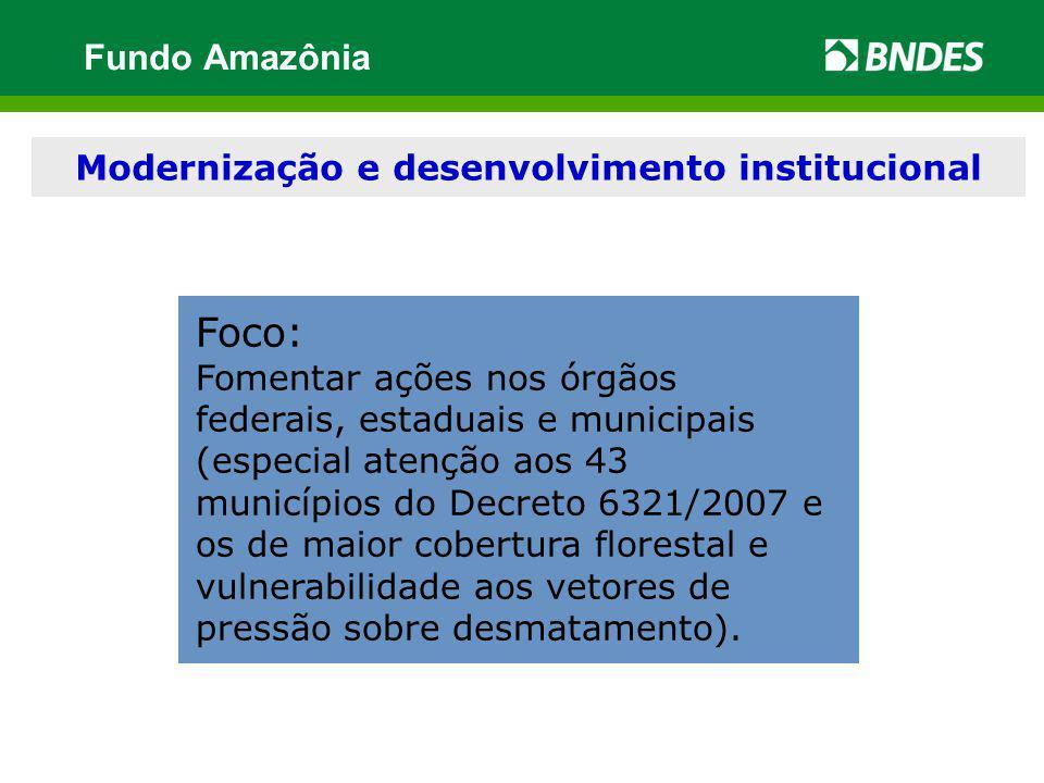 Modernização e desenvolvimento institucional