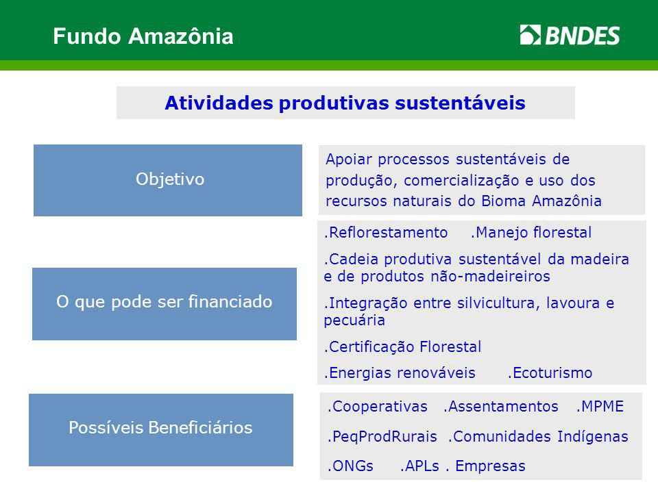 Atividades produtivas sustentáveis