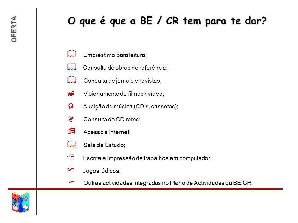 O que é que a BE / CR tem para te dar