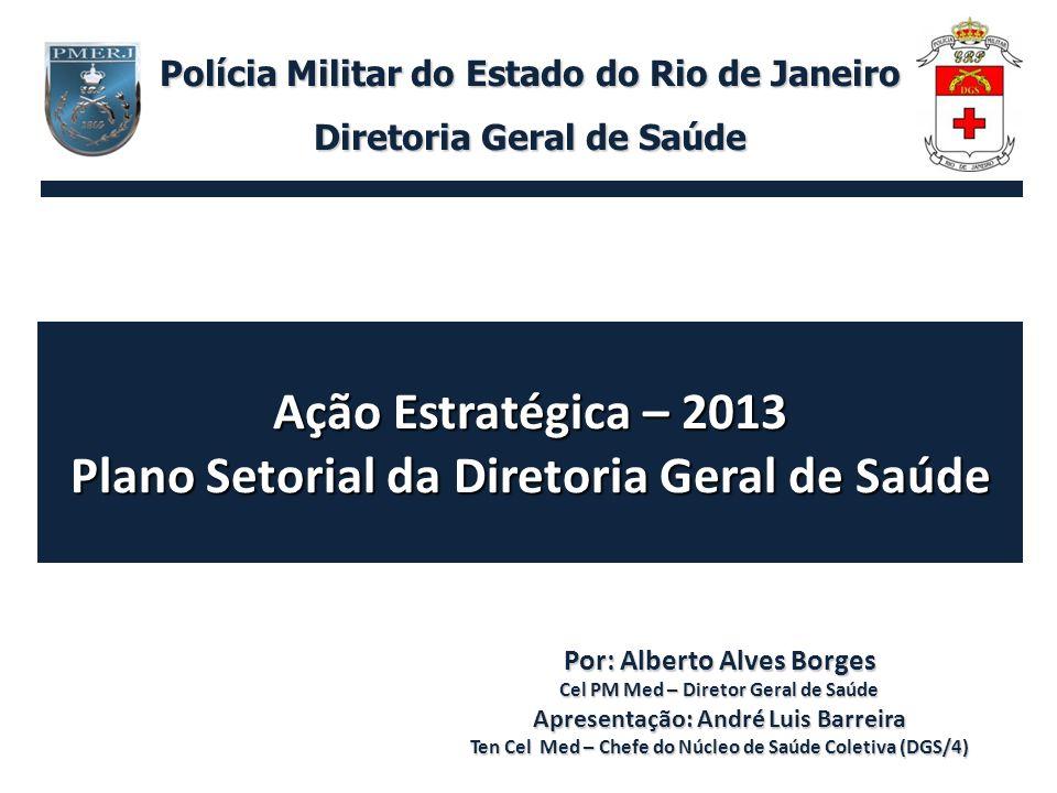 Ação Estratégica – 2013 Plano Setorial da Diretoria Geral de Saúde