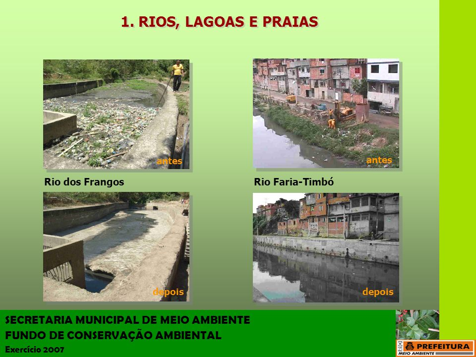 RIOS, LAGOAS E PRAIAS SECRETARIA MUNICIPAL DE MEIO AMBIENTE