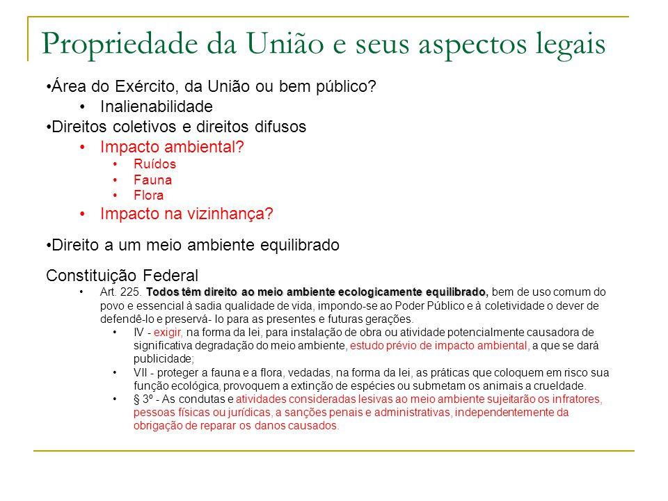 Propriedade da União e seus aspectos legais