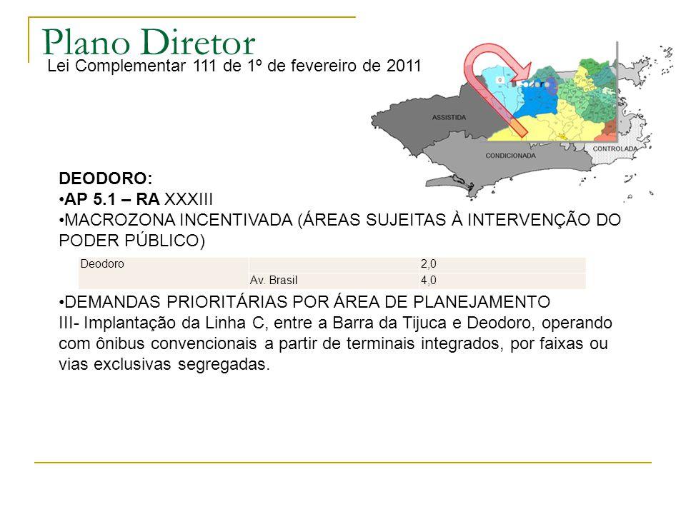 Plano Diretor Lei Complementar 111 de 1º de fevereiro de 2011 DEODORO: