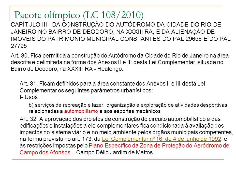 Pacote olímpico (LC 108/2010)