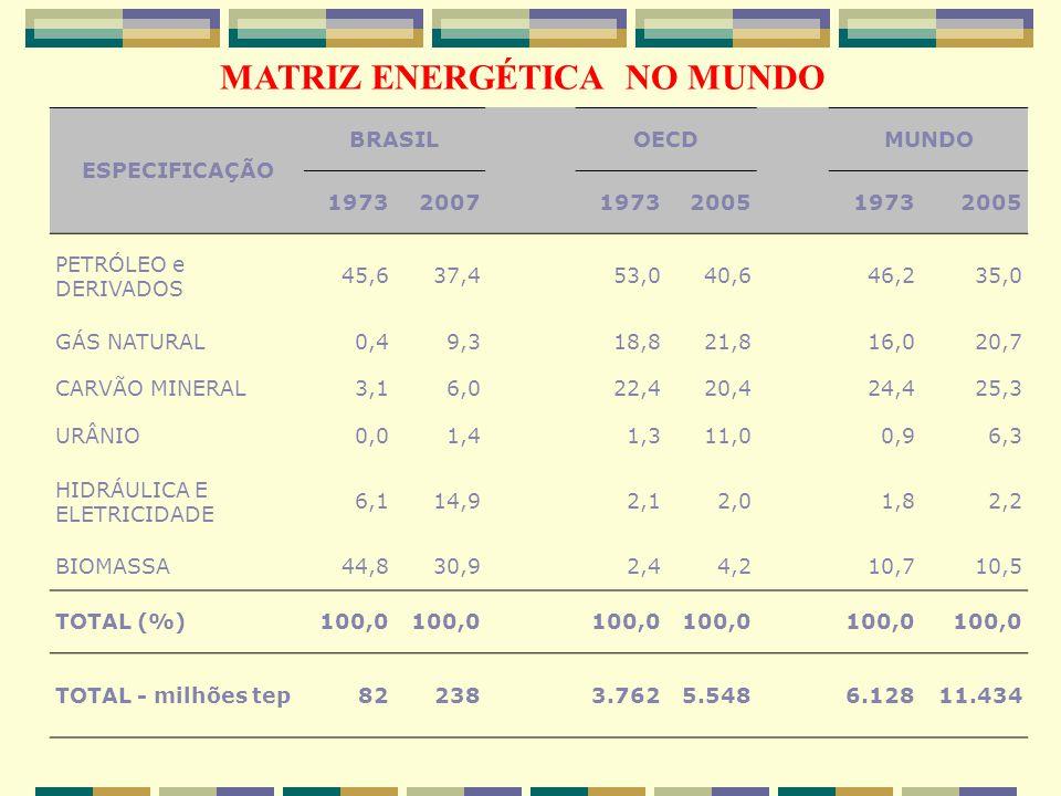 MATRIZ ENERGÉTICA NO MUNDO