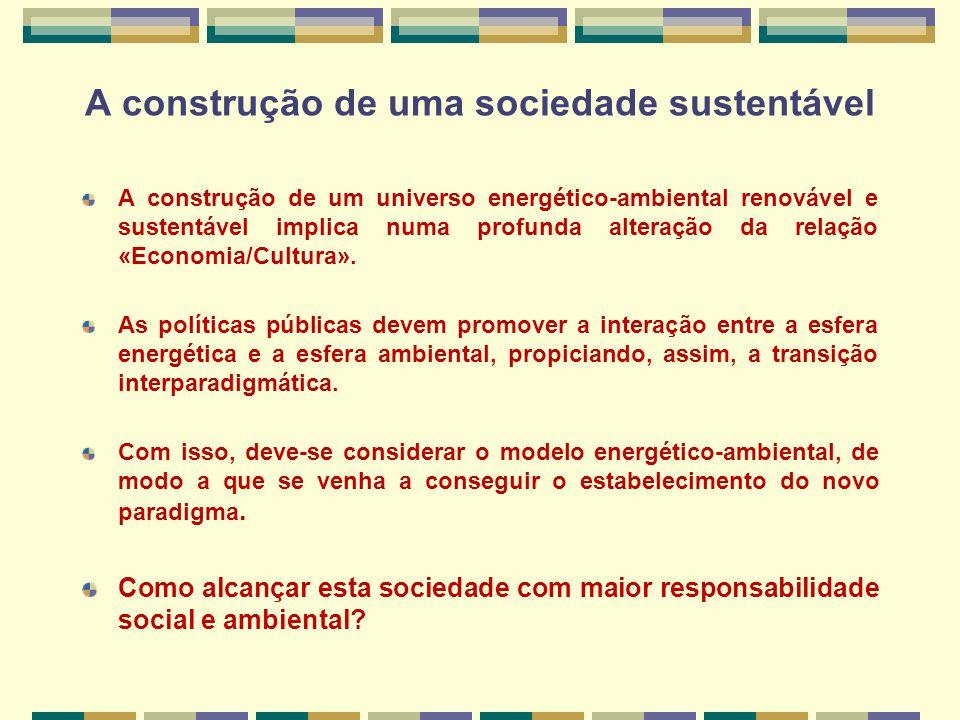 A construção de uma sociedade sustentável