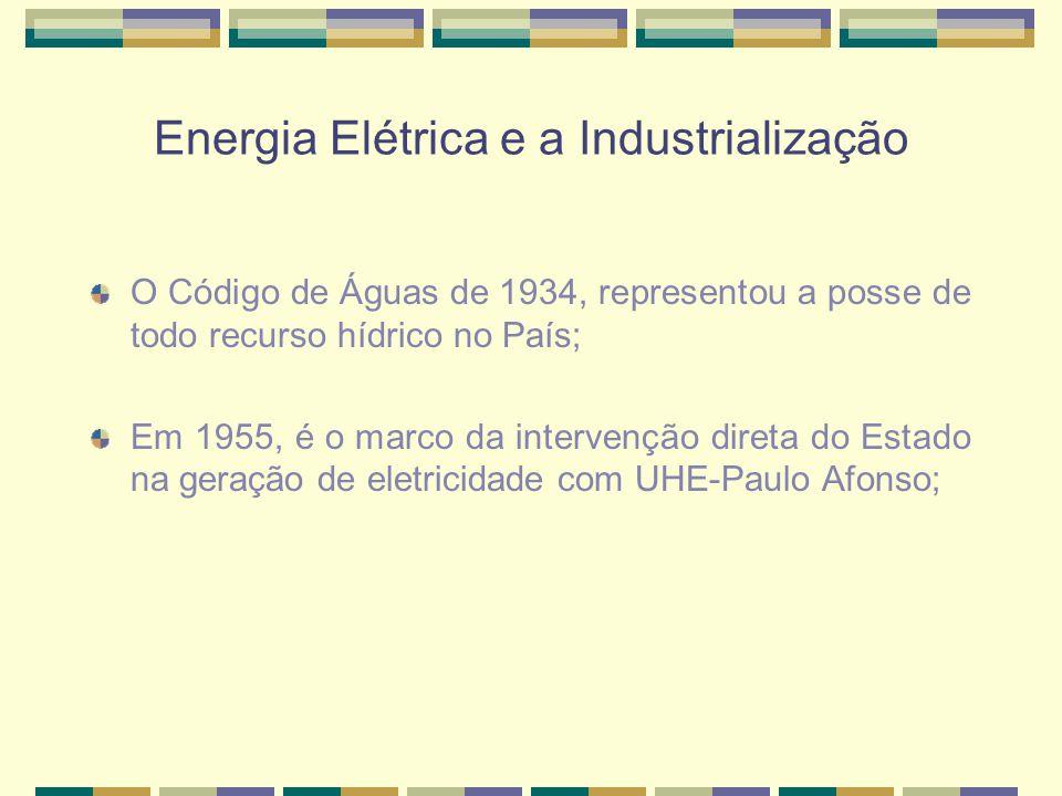 Energia Elétrica e a Industrialização
