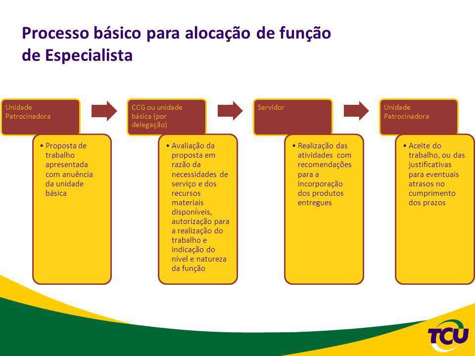 Processo básico para alocação de função de Especialista