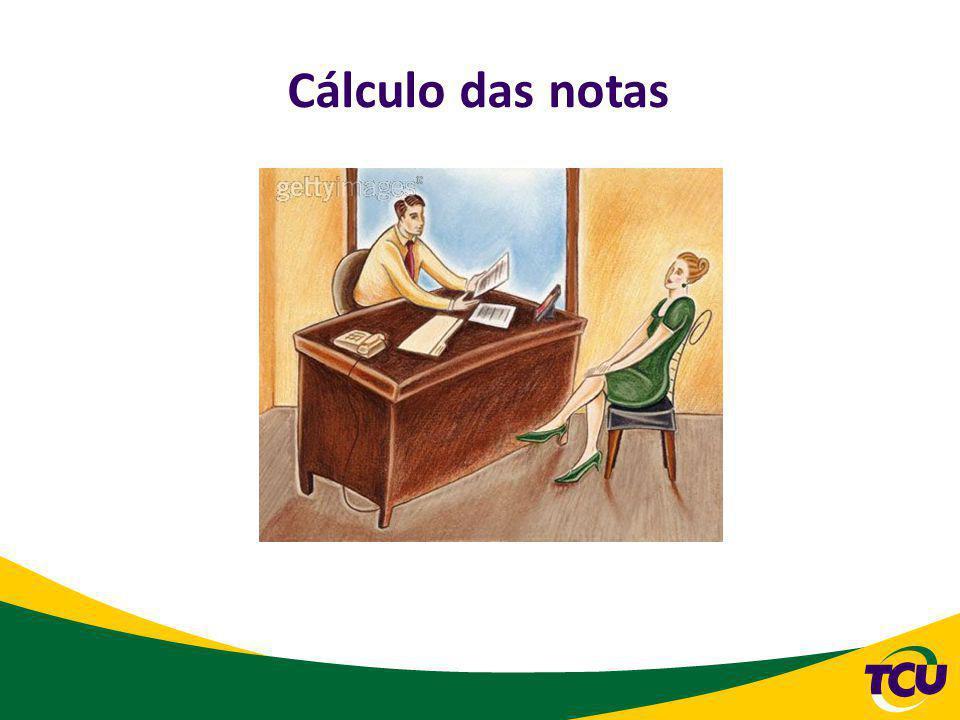 Cálculo das notas