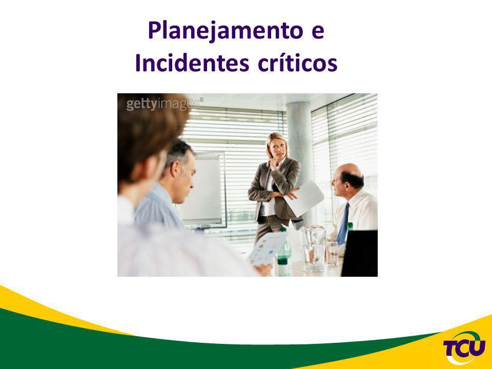 Planejamento e Incidentes críticos