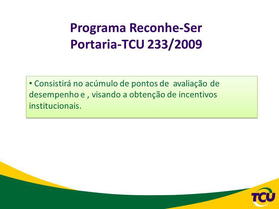Programa Reconhe-Ser Portaria-TCU 233/2009