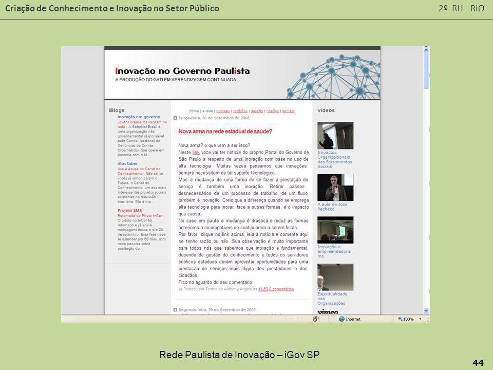Rede Paulista de Inovação – iGov SP