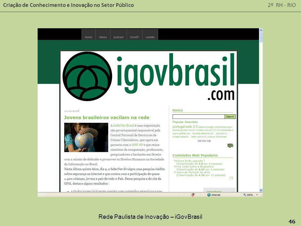 Rede Paulista de Inovação – iGovBrasil