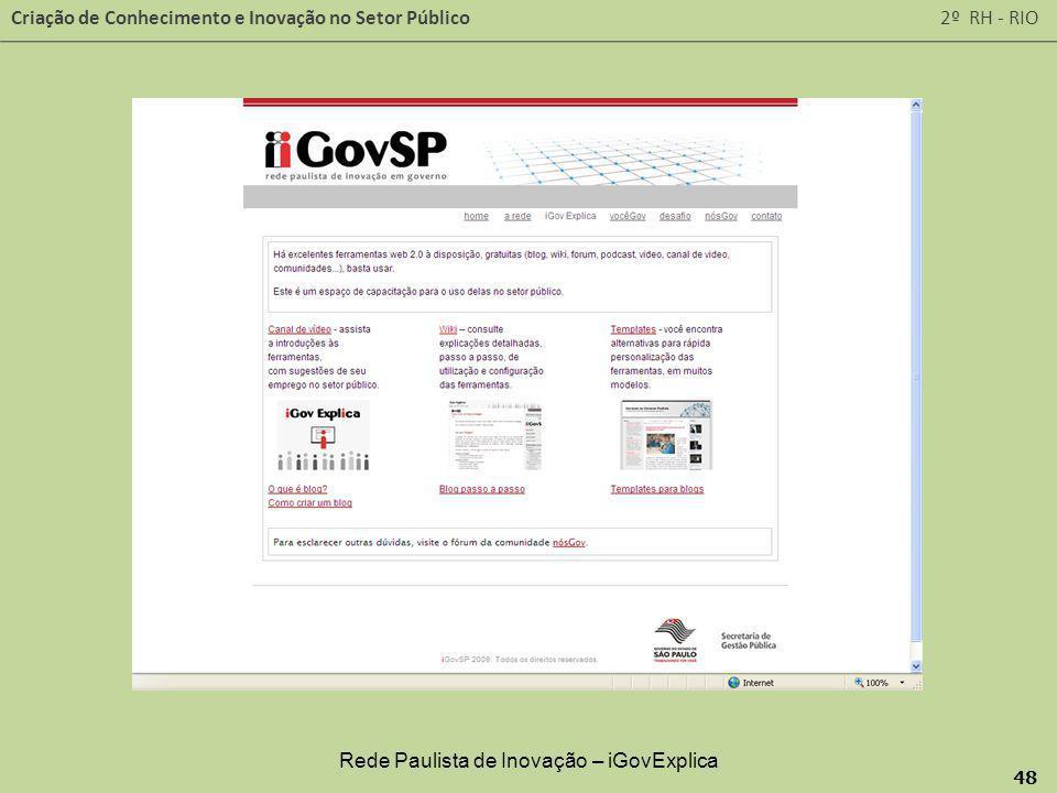 Rede Paulista de Inovação – iGovExplica