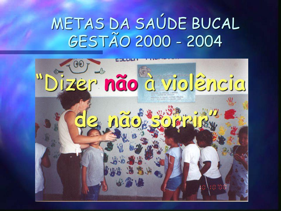 METAS DA SAÚDE BUCAL GESTÃO 2000 - 2004
