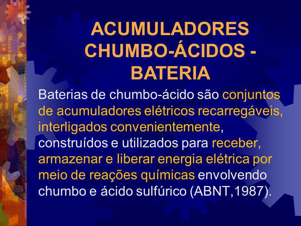 ACUMULADORES CHUMBO-ÁCIDOS - BATERIA