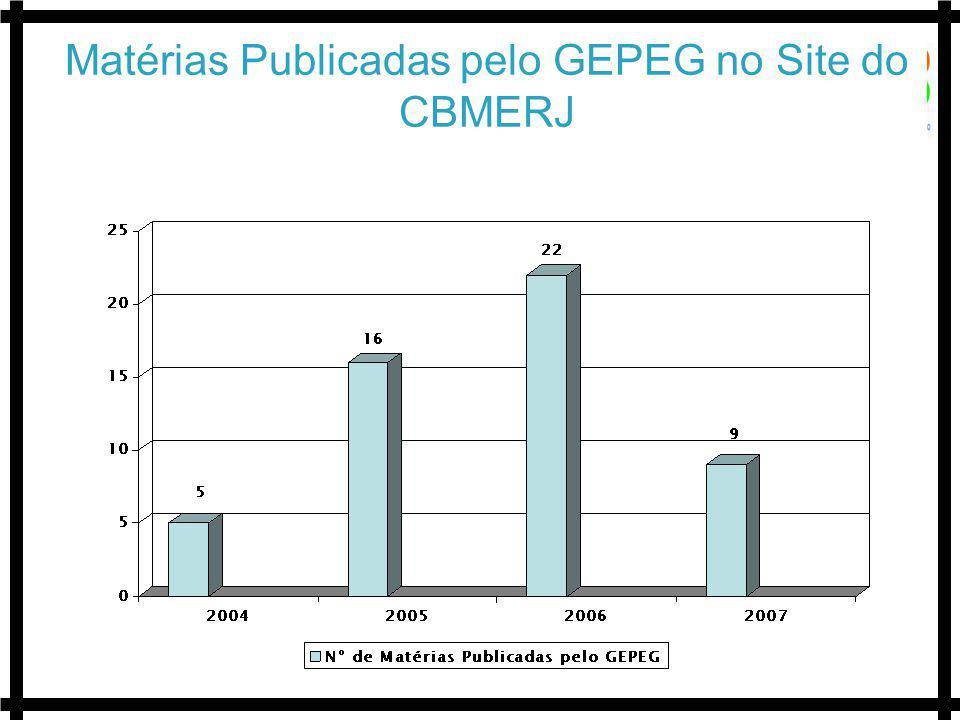 Matérias Publicadas pelo GEPEG no Site do CBMERJ