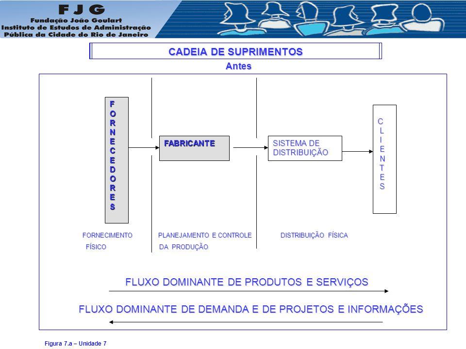 FLUXO DOMINANTE DE PRODUTOS E SERVIÇOS