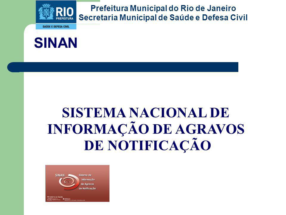 SISTEMA NACIONAL DE INFORMAÇÃO DE AGRAVOS DE NOTIFICAÇÃO