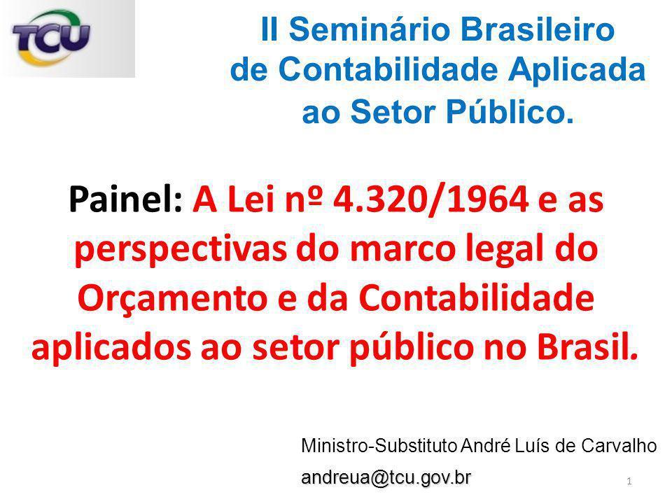 II Seminário Brasileiro de Contabilidade Aplicada ao Setor Público.