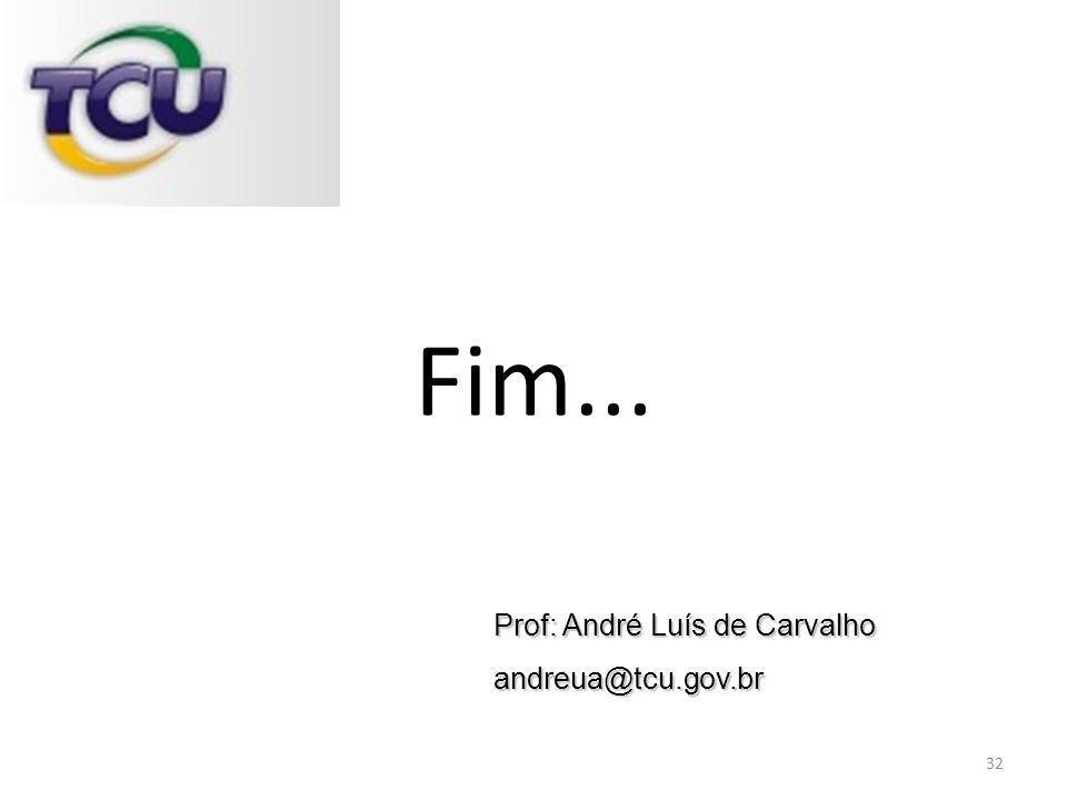Fim... Prof: André Luís de Carvalho andreua@tcu.gov.br