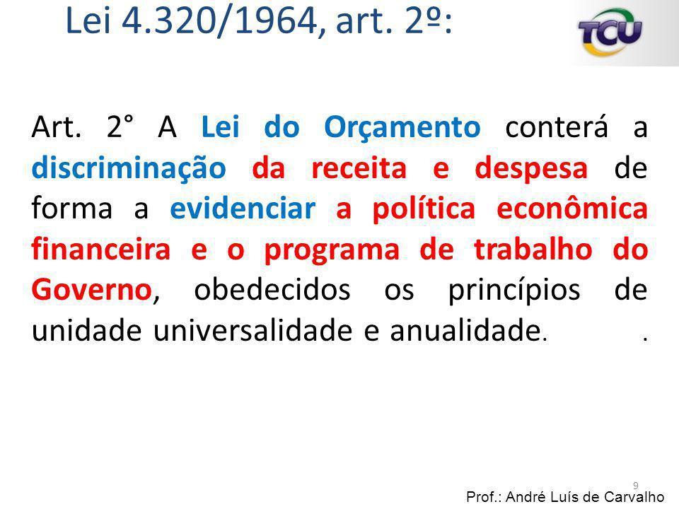 Lei 4.320/1964, art. 2º: