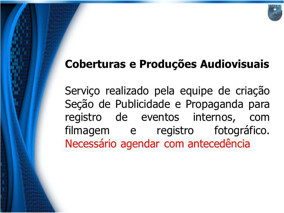 Coberturas e Produções Audiovisuais