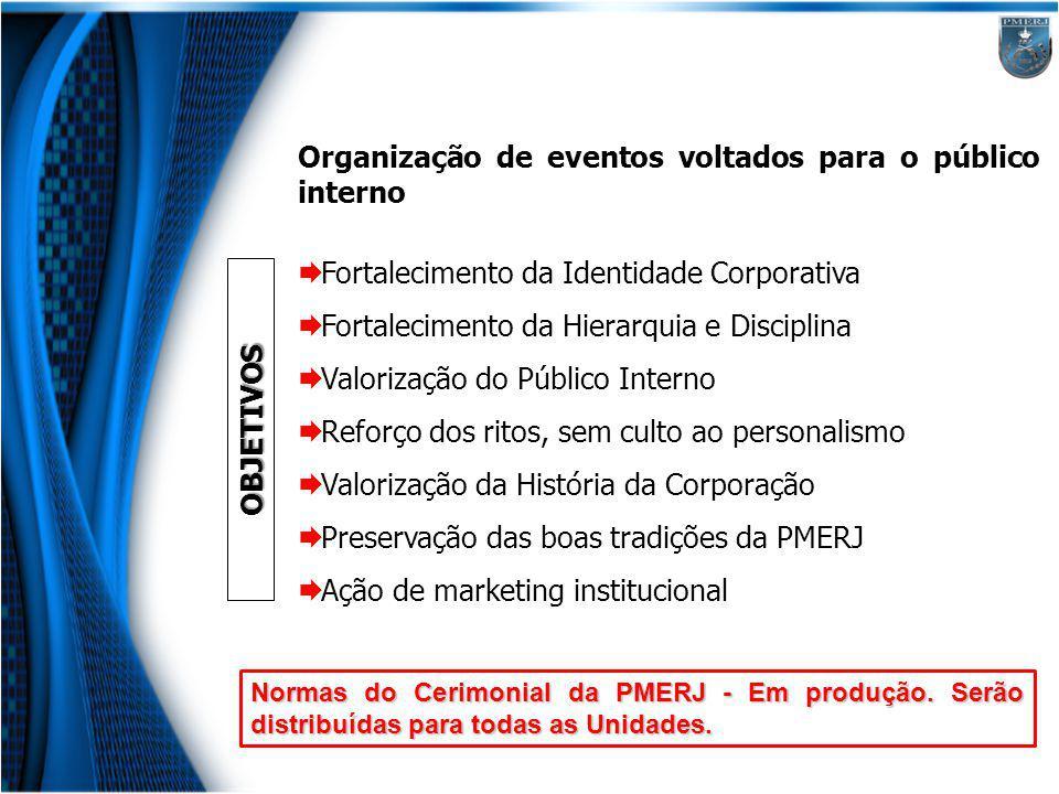 Organização de eventos voltados para o público interno