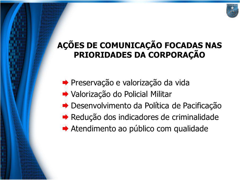AÇÕES DE COMUNICAÇÃO FOCADAS NAS PRIORIDADES DA CORPORAÇÃO