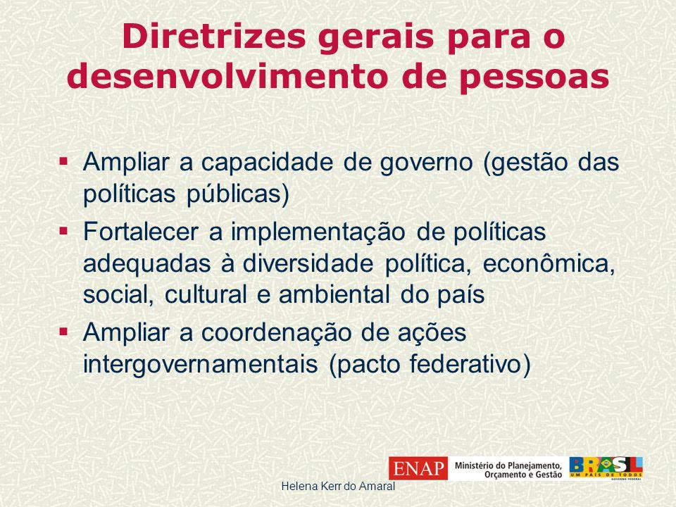 Diretrizes gerais para o desenvolvimento de pessoas