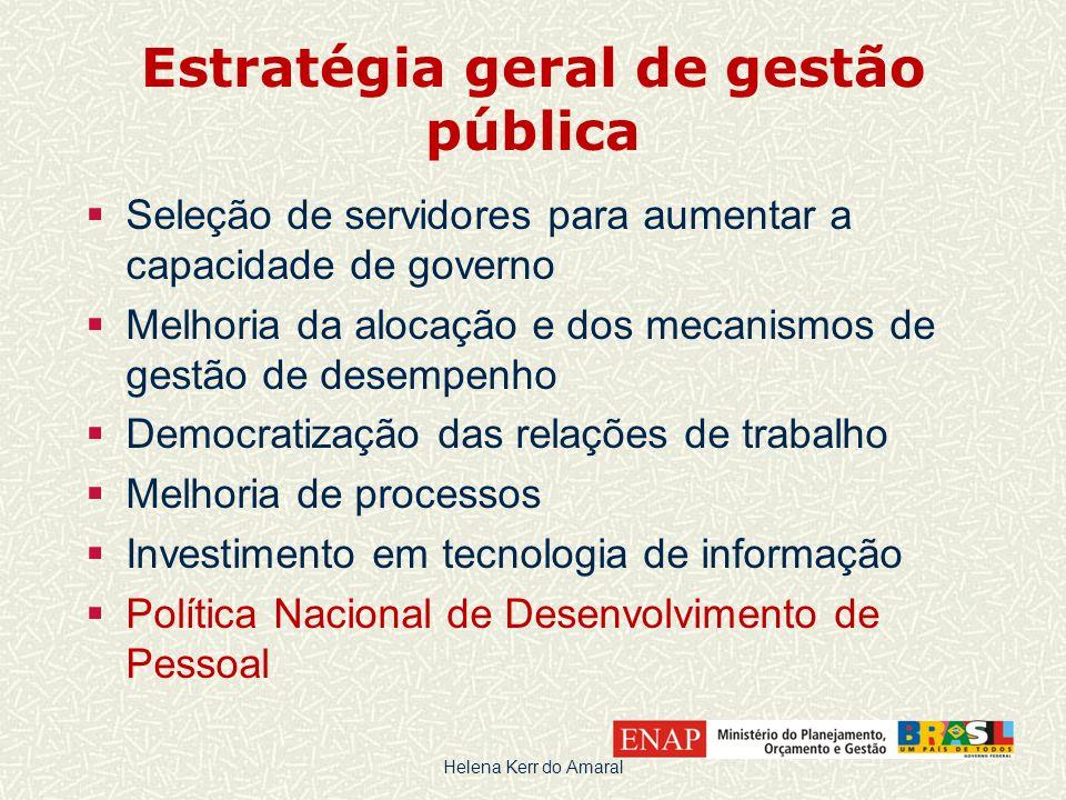 Estratégia geral de gestão pública