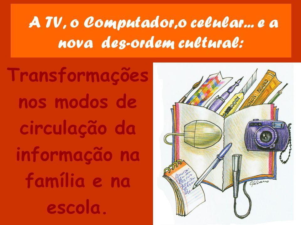 A TV, o Computador,o celular... e a nova des-ordem cultural: