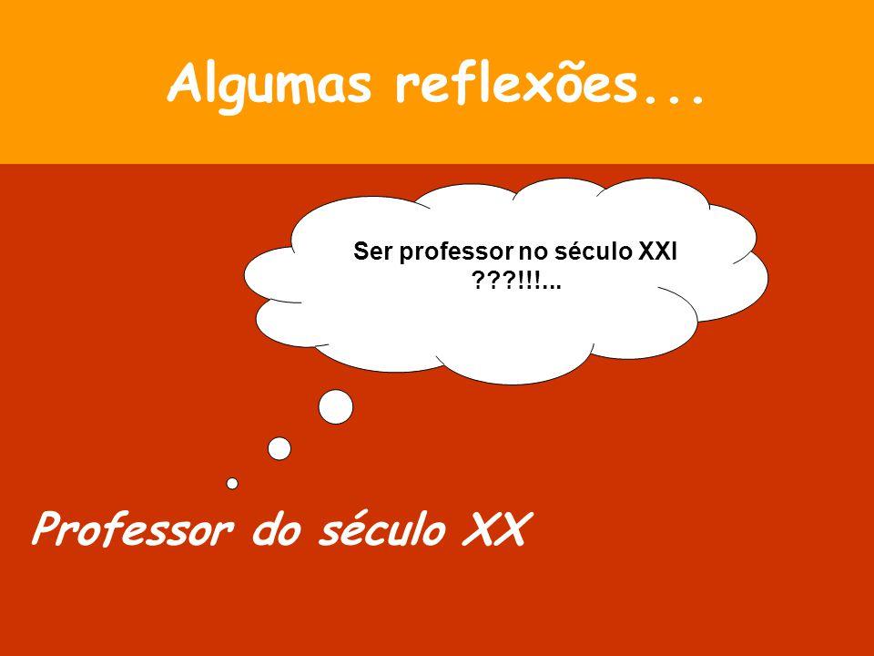 Ser professor no século XXI !!!...