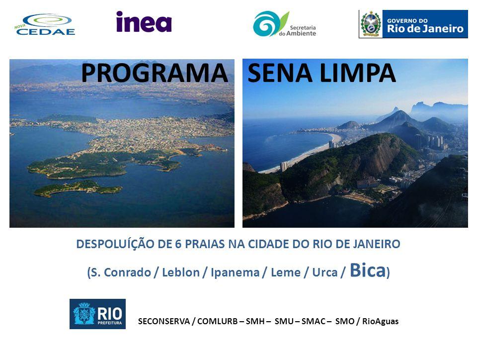 PROGRAMA SENA LIMPA DESPOLUÍÇÃO DE 6 PRAIAS NA CIDADE DO RIO DE JANEIRO. (S. Conrado / Leblon / Ipanema / Leme / Urca / Bica)