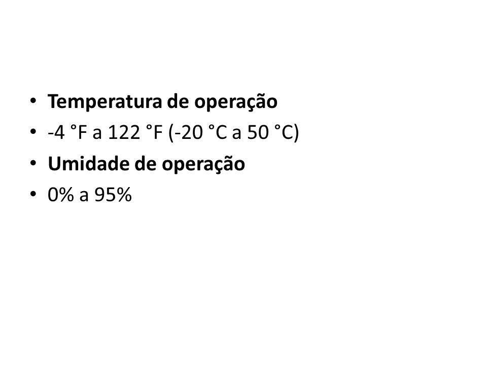 Temperatura de operação