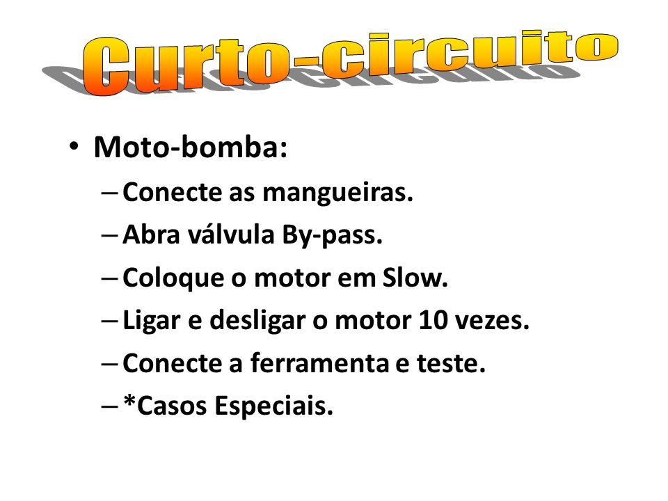 Curto-circuito Moto-bomba: Conecte as mangueiras.