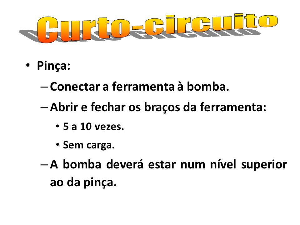 Curto-circuito Pinça: Conectar a ferramenta à bomba.