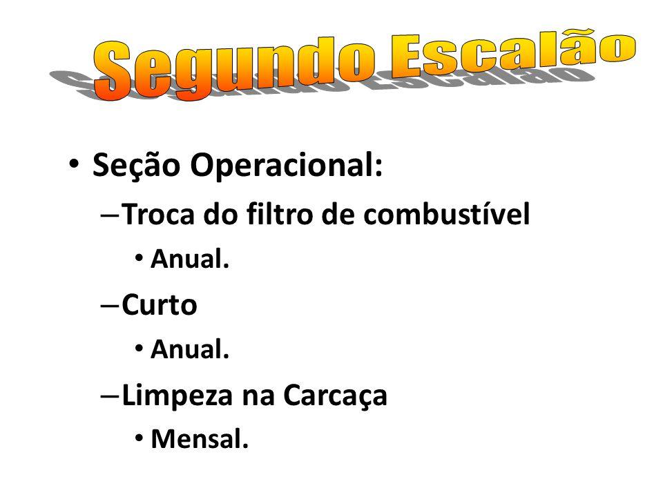 Seção Operacional: Segundo Escalão Troca do filtro de combustível