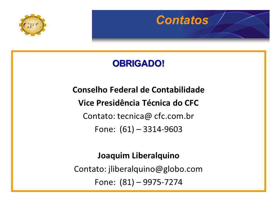 Conselho Federal de Contabilidade Vice Presidência Técnica do CFC