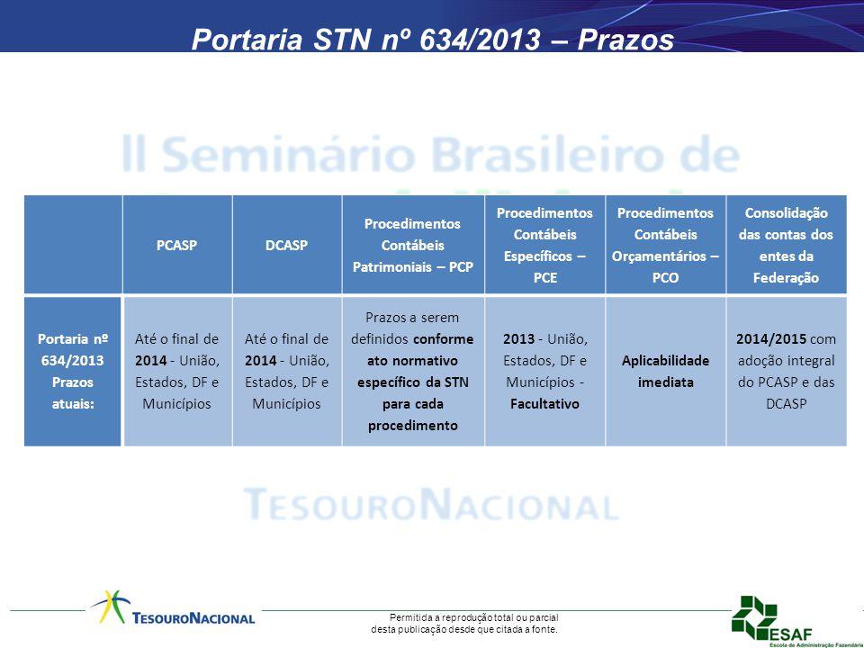 Portaria STN nº 634/2013 – Prazos