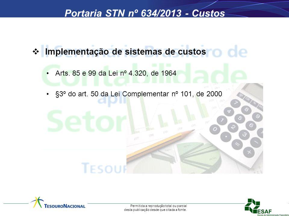 Portaria STN nº 634/2013 - Custos